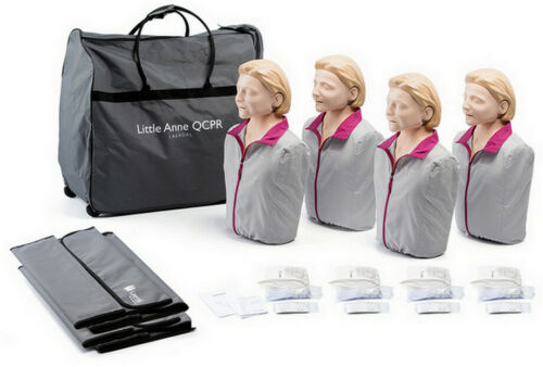 Laerdal Little Anne Adult QCPR Manikins 4-Pack with Feedback Light Skin NEW