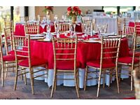 Banquet Chair Hire £2 Cream Chair Cover Hire 79p Table Decorations £9 Sequin Table Decor Rental Sale