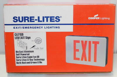 New Old Stock Exit Emergency Lighting Led Sign Cx71sd Sure Lites By Cooper Light