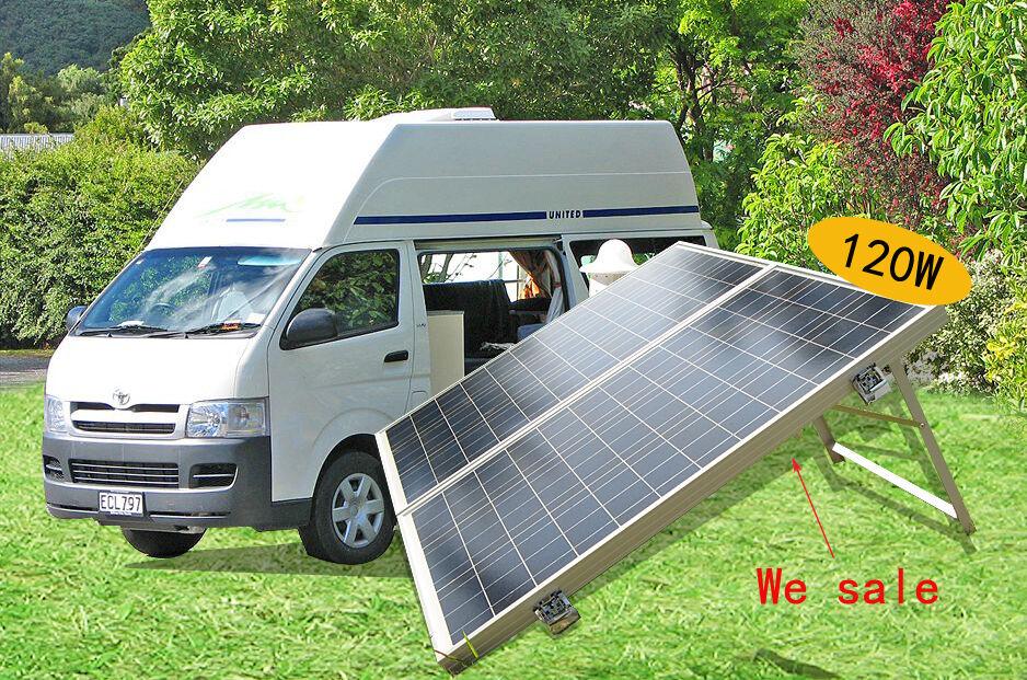 120w 12v folding solar panel complete poly kit for rv boat. Black Bedroom Furniture Sets. Home Design Ideas