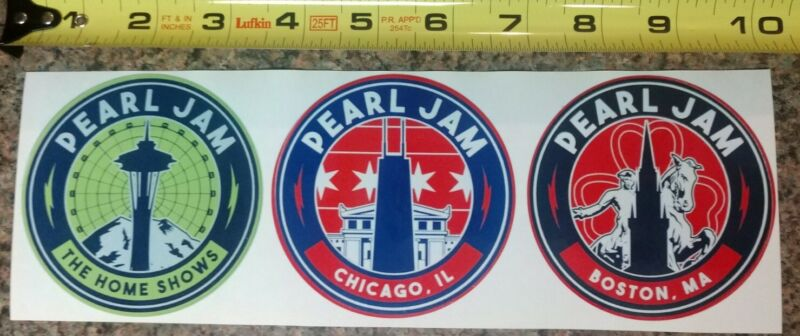 Pearl Jam Home Shows 2018 Concert REPRO Sticker Set of 3! High Quality Gloss NEW