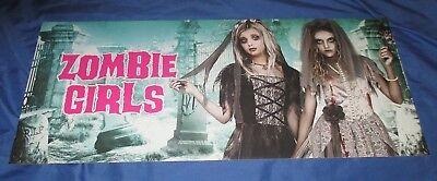 SPIRIT HALLOWEEN Store Exclusive Display Sign ZOMBIE GIRLS (Dead/Walking) (Halloween Spirits Store)
