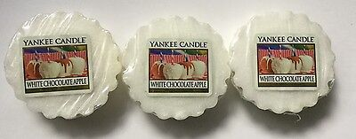 YANKEE CANDLE WHITE CHOCOLATE APPLE TARTS WAX MELTS X 3 VHTF RETIRED SCENT