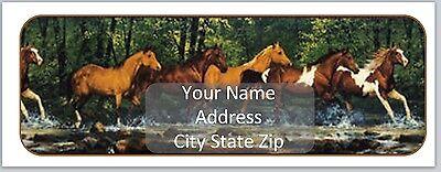 30 Personalized Return Address Labels Horses Buy 3 get 1 free (bo174)