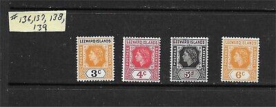 Leeward Islands #136 137 138 139 Mint NH British