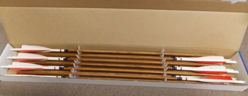 "Nirk Cedar Wood Arrows Traditional Wood Arrows 23/64"" 32"" new old stock  ."