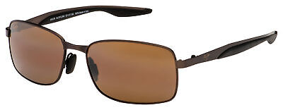 Maui Jim Shoal Sunglasses H797-25M Matte Brown | HCL Bronze Polarized (Maui Brown)