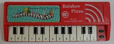 HC VTG 80's MINI RED 8'' RAINBOW PIANO HC-06 w/ SONG CARD TA