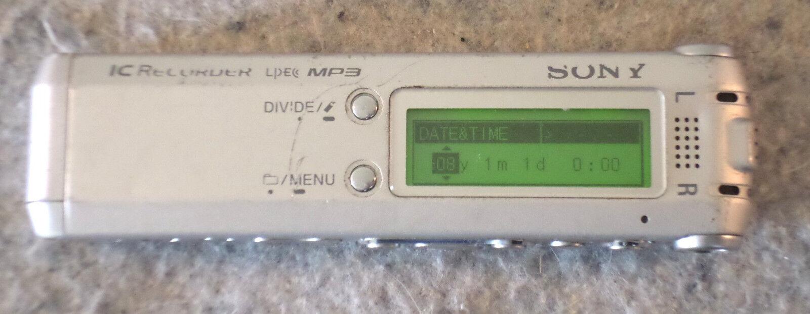 Sony ICD-SX68 Digital Voice Recorder Triple Microphone Design............(C14B3)