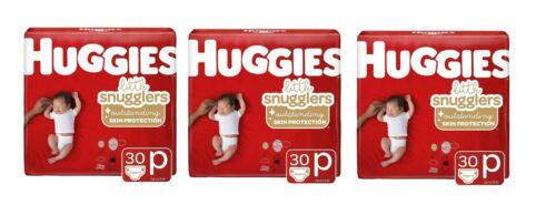 3 hugges litte snugglers preemie 30ct up to 6 lbs (90 total)  - Free Ship