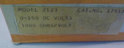 Simpson Panel Meter Model 2123 0-150 Dc Volts Nos