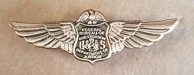 FBI FEDERAL BUREAU OF INVESTIGATION WINGS Lapel Pin