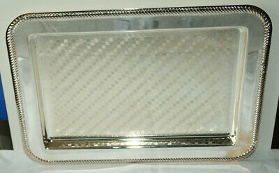 Vintage Mayall EP on Steel oblong tray with checkerboard pattern and rope edging