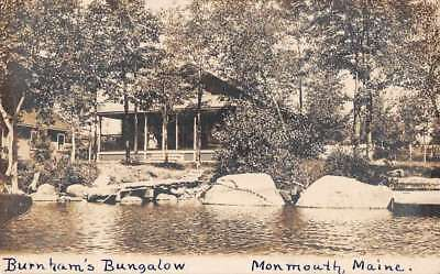 Monmouth Maine Birds Eye View Burnhams Bungalow Real Photo Pc Z41426