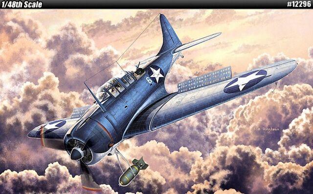 ACA12296 - *Academy 1:48 - USN SBD-2 'Midway'