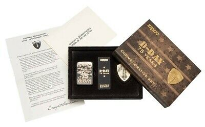 Zippo 29930 75th Anniversary D-Day Commemorative Limited Ed Lighter Gift Set