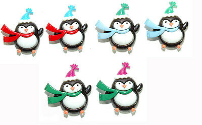 CHRISTMAS HOLIDAY PENGUIN STUD EARRINGS - 3 CHOICES (Holiday Penguin)