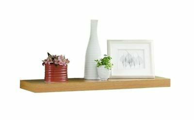 "Tidy Living - Floating Shelf 36"" Oak - Wall Mount Home Decor Bookshelf Storage"