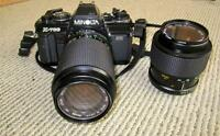Minolta X-700 (electronic shutter needs repair) with 2 Lenses