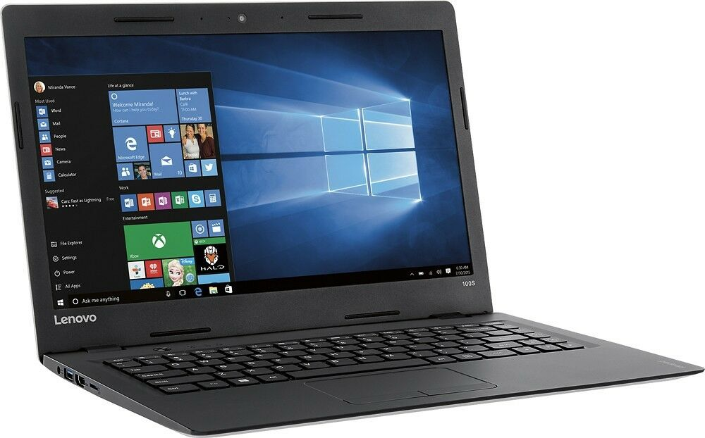 "Lenovo IdeaPad 100S-11IBY 11.6"" Laptop (Intel Atom Quad, 2GB, 32GB, Windows 10)"