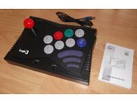 Nintendo Gamecube Arcade Stick Controller by Logic 3 - Custom Red Joystick!