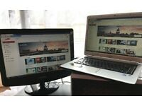 SPECIAL!!! GREY Laptop - TV CABLE!!...Watch YOUTUBE / Internet on TV EASY INSTALL - Simply PLUG IN!!