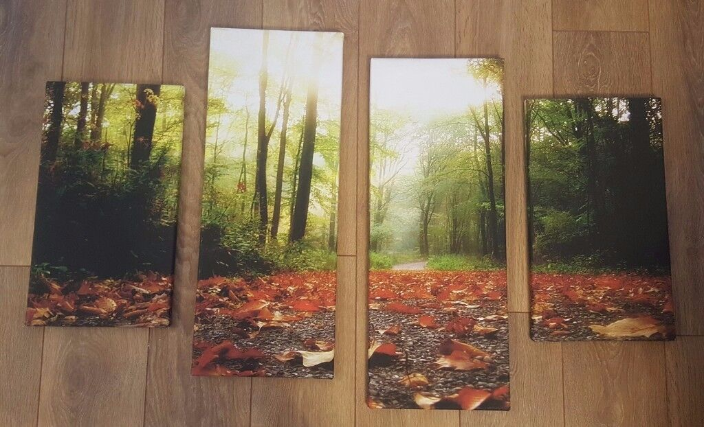 Canvas Picture Photo Art - Nature (Set of 4)