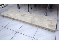 FIREPLACE SOLID REAL MARBLE PLINTH CREAM