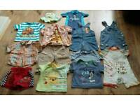 Baby boys summer clothing bundle age 9-12 m