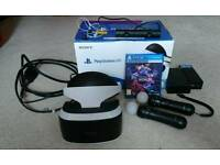 Playstation VR Headset and Move Controllers