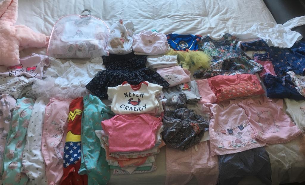 69da73358 Girls baby bundle 3-6 months huge bundle