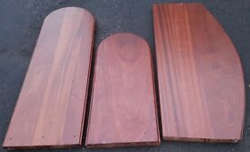Quality Mahogany and lots of it - assorted thick wooden panels