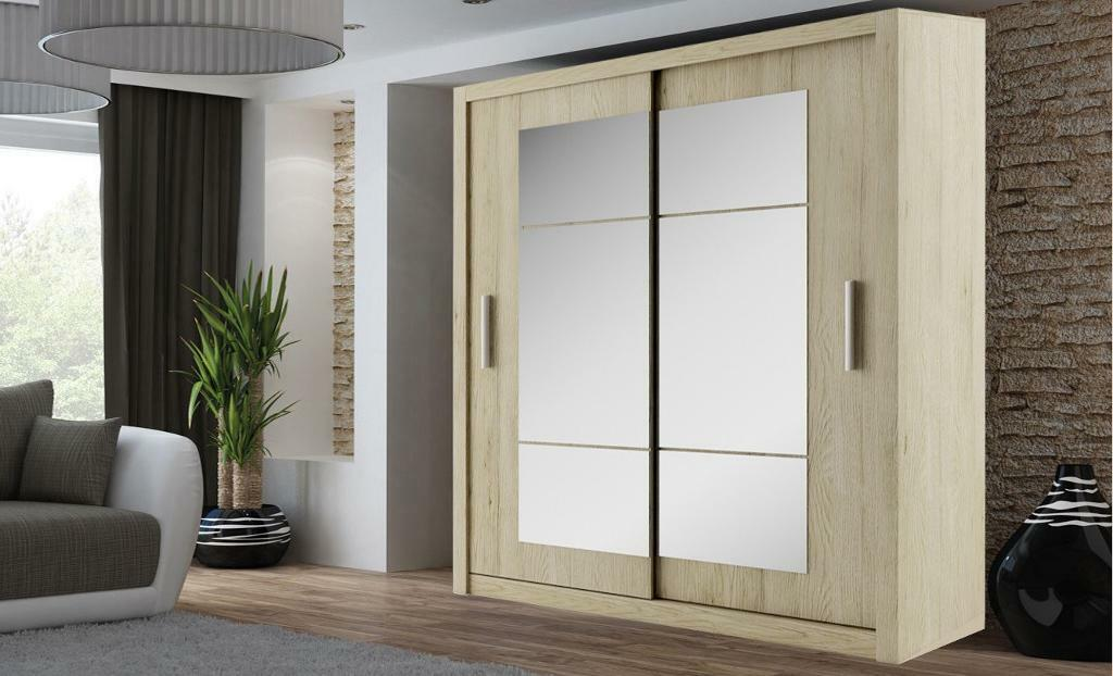NEW 2 OR 3 DOOR SLIDING WARDROBE WITH FULL MIRRORSin Surrey Quays, LondonGumtree - This extremely high quality modern wardrobe comes in different designs and dimensions with a elegant finish giving plenty of hanging space and shelf space . Height 216cm Depth 62cm Width 150,180, 203 or 250cm Specifications 10 Shelves 2 Hanging Rail...