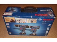 Bosch GSB18-2LI - Professional 18V Combo Drill Set + 3 x 1.Ah batteries, charger, carry bag, bits