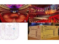 David Gilmour Tickets Wed 28 Sept - Stalls M Row 5 Seat 113 & 114