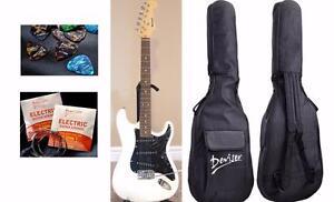 Electric Guitar for beginners Free Gig bag, String set, 5 picks White iMEG271 Brand New