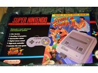 Street Fighter snes console boxed great condition rare retro super Nintendo