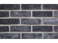 Brick Slips - Grey Square Edge