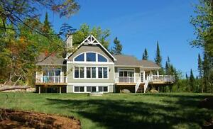 Lakefront Luxury Chalet -5 bdrm cottage for rent with spa 14 per