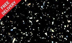3000 x 600 x 30mm Kitchen Worktop - Black Sparkle - BRAND NEW