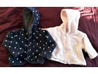 2 baby 3-9 months spring jackets £10
