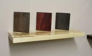 Menonnites Handcrafted Solid Wood Floating Shelving Reclaimed Walnut Shelves - FREE SHIPPING