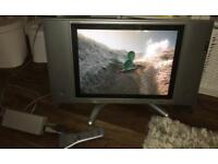 """Sharp 20"""" tv works with DVD player/blu-ray and freesat/freereview box"""