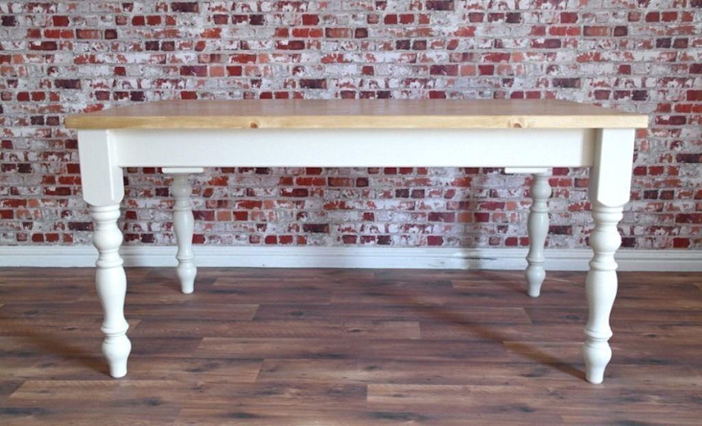 Antique Pine Farmhouse Dining Table Extending In Huge Range Of Sizes Inc Bespoke