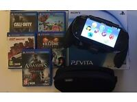 Sony PS Vita with 7 games and Nyko power grip