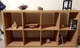 8 cube storage unit oak effect