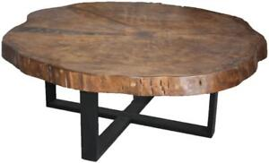 Canadian Live Edge Stump Top Coffee Tables - Ship Across Canada