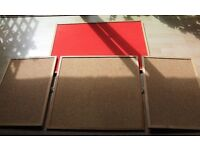 4 Great Pinboards, Including VINTAGE RED FELT PINBOARD - Only £15 ONO!