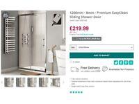 Shower Screen - 1200mm – 8mm Premium EasyClean Sliding Shower Door