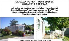 peaceful caravan holiday rental
